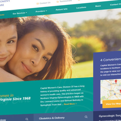 Comprehensive Women's Care of Northern Virginia web design