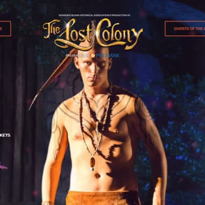 Header screen-shot from the Lost Colony website.