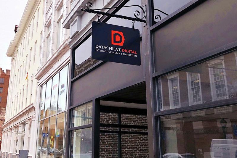 DatAchieve sign at 30 West Washington Street