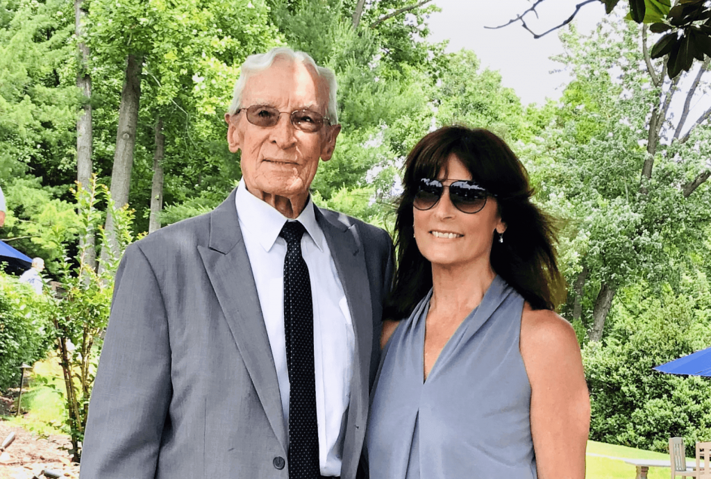 The author, Norma Kolson, with her father.